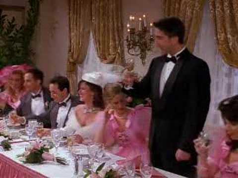 Rachel On barry's wedding