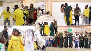 Rev Obofour Gives House  Car To Jnr Pastor At His Wedding Sprays cash On Them