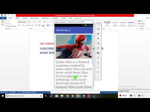 Android ScrollView Tutorial With Example | Vertical