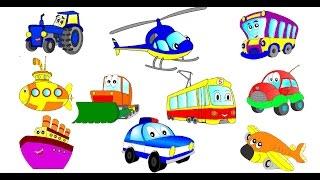Мультики про транспорт. Все серии подряд (Сборник). Мультик - Раскраска