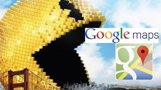 Pacman en google maps. jugando por mi ciudad Free HD Video