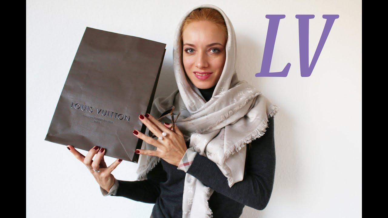 Шаль Louis Vuitton: как отличить оригинал, как носить - YouTube