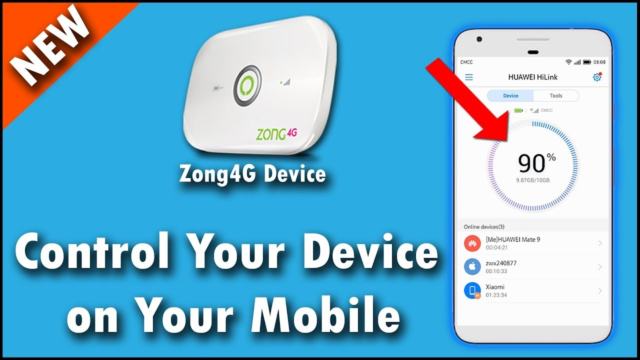 How To Setup Your Zong 4g Devices On Android With Official App Huawei  hilink - Zong4g