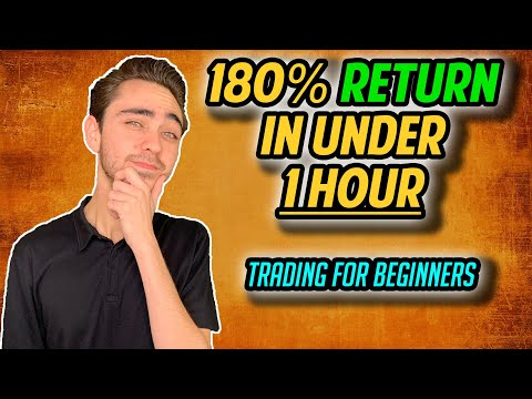 180% Return in Less Than One Hour | Stock and Options Trading For Beginners