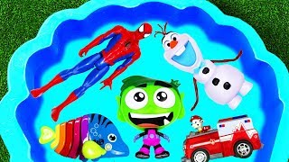 Learn Characters with Super Heroes, Paw Patrol, Barbie and Animals for Toddlers