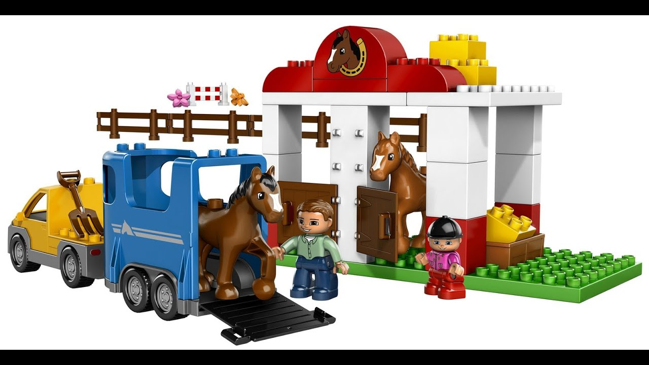 Lego Duplo Horse Stable Toys For Kids Youtube