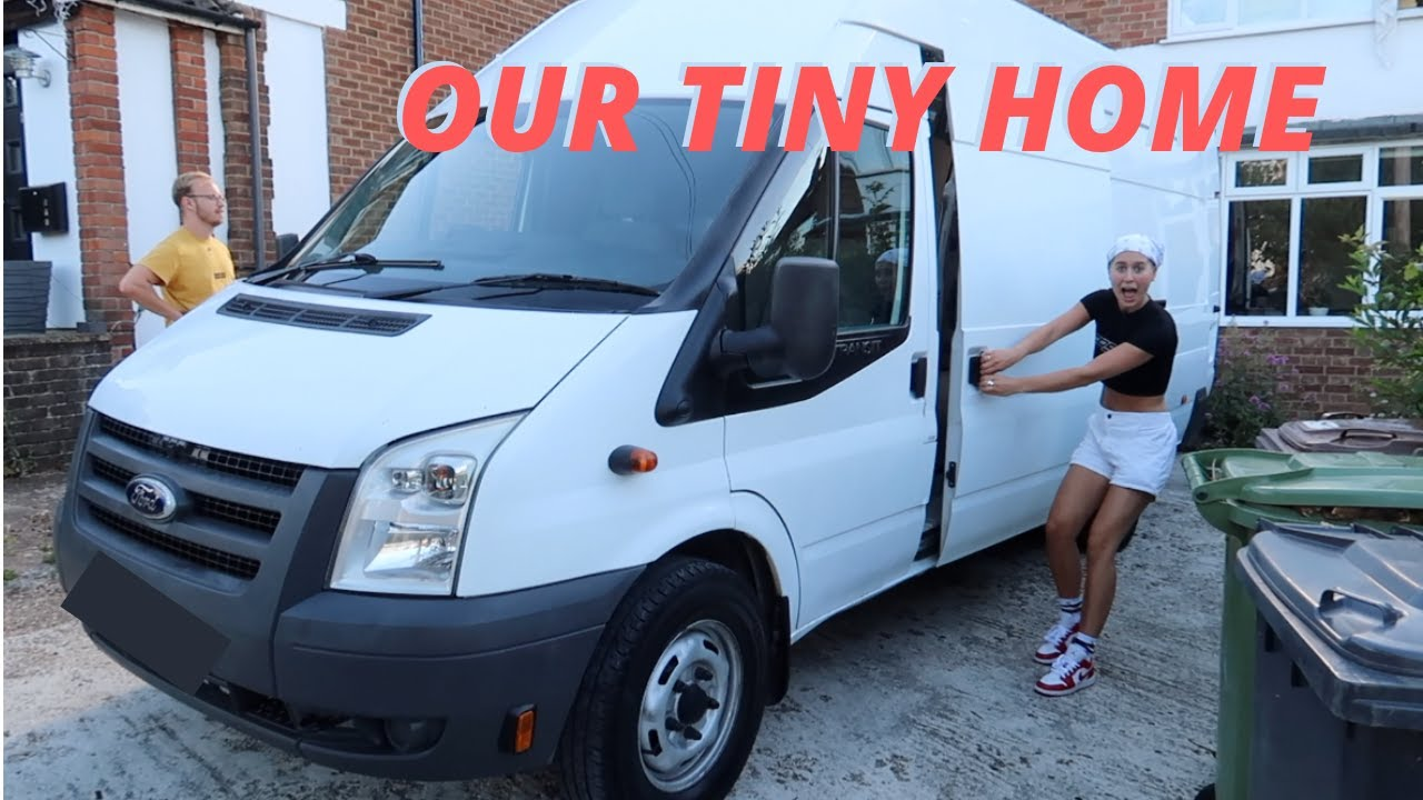 TWO STUDENTS BUY A VAN TO CONVERT INTO A TINY HOME (CAMPERVAN) | Lucy Lynch