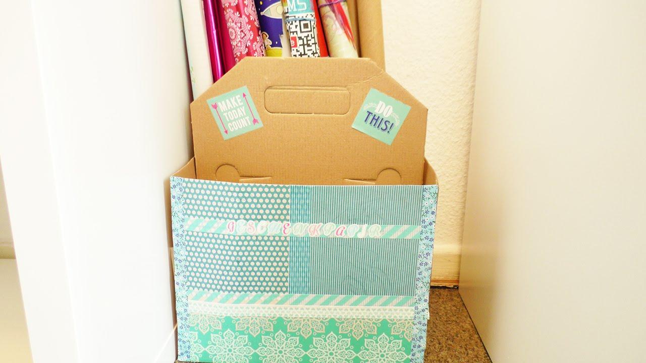 zimmer richtig aufr umen ordnung aufbewahrung f r geschenkpapier kathi r umt das studio um. Black Bedroom Furniture Sets. Home Design Ideas