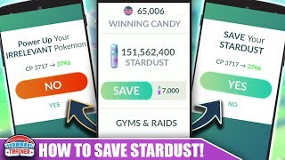 THE STARDUST EVENT IS ENDING.... TOP 5 WAYS TO STAY STARDUST RICH | POKÉMON GO
