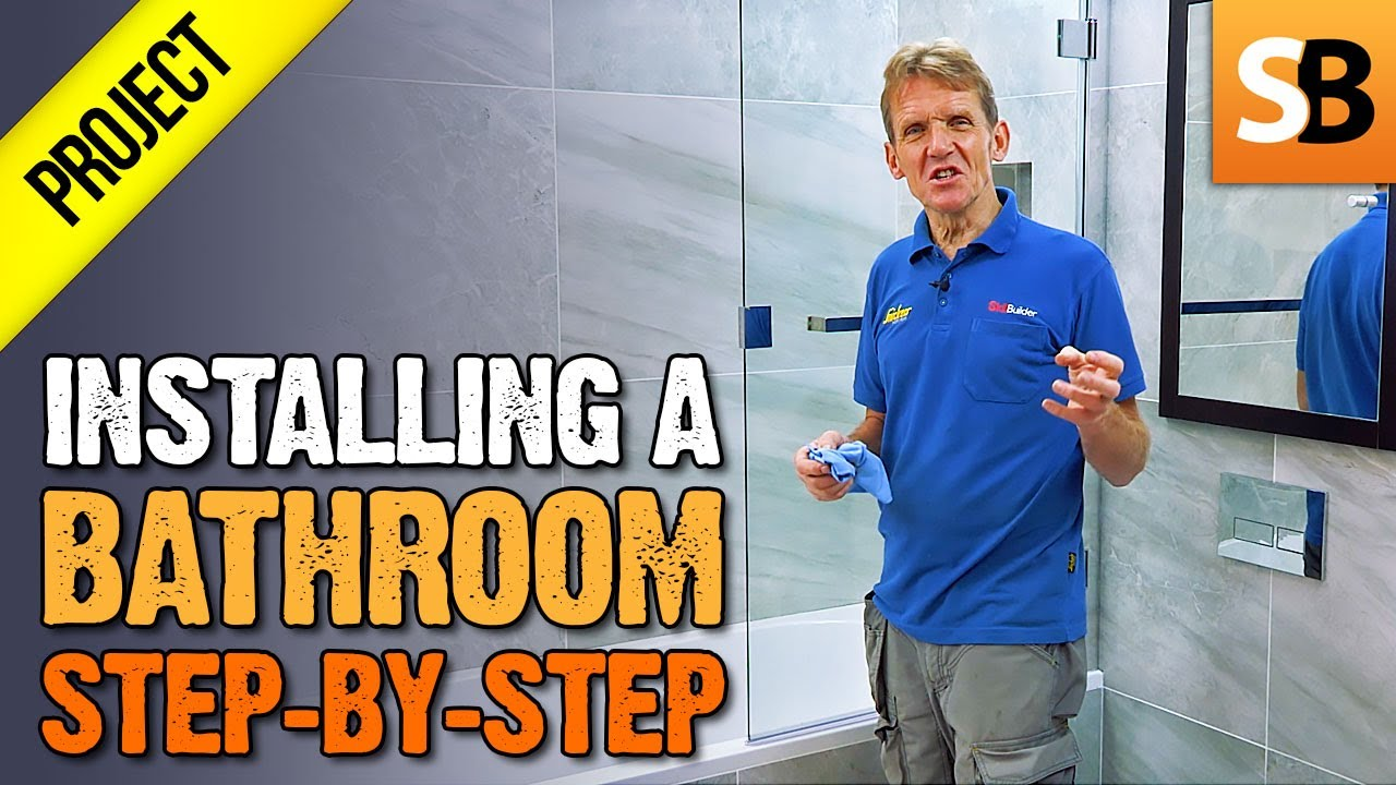 How to Install a Complete Bathroom Step-by-Step - YouTube