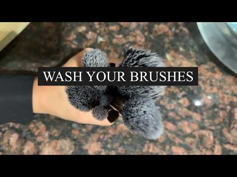 How to Clean Makeup Brushes At Home || DIY || HOMEMADE || BEAUTY