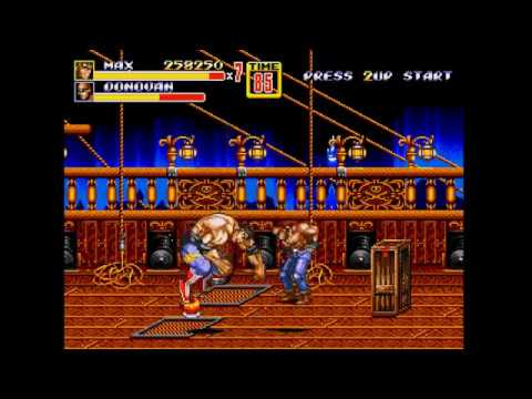 Streets of Rage 2 - Max on Mania. 1 life start, 6 lives end  (1CC completed)