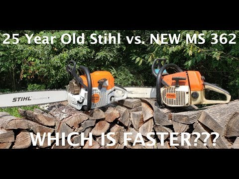 #195 OLD STIHL Vs  NEW STIHL! Which Is Faster???