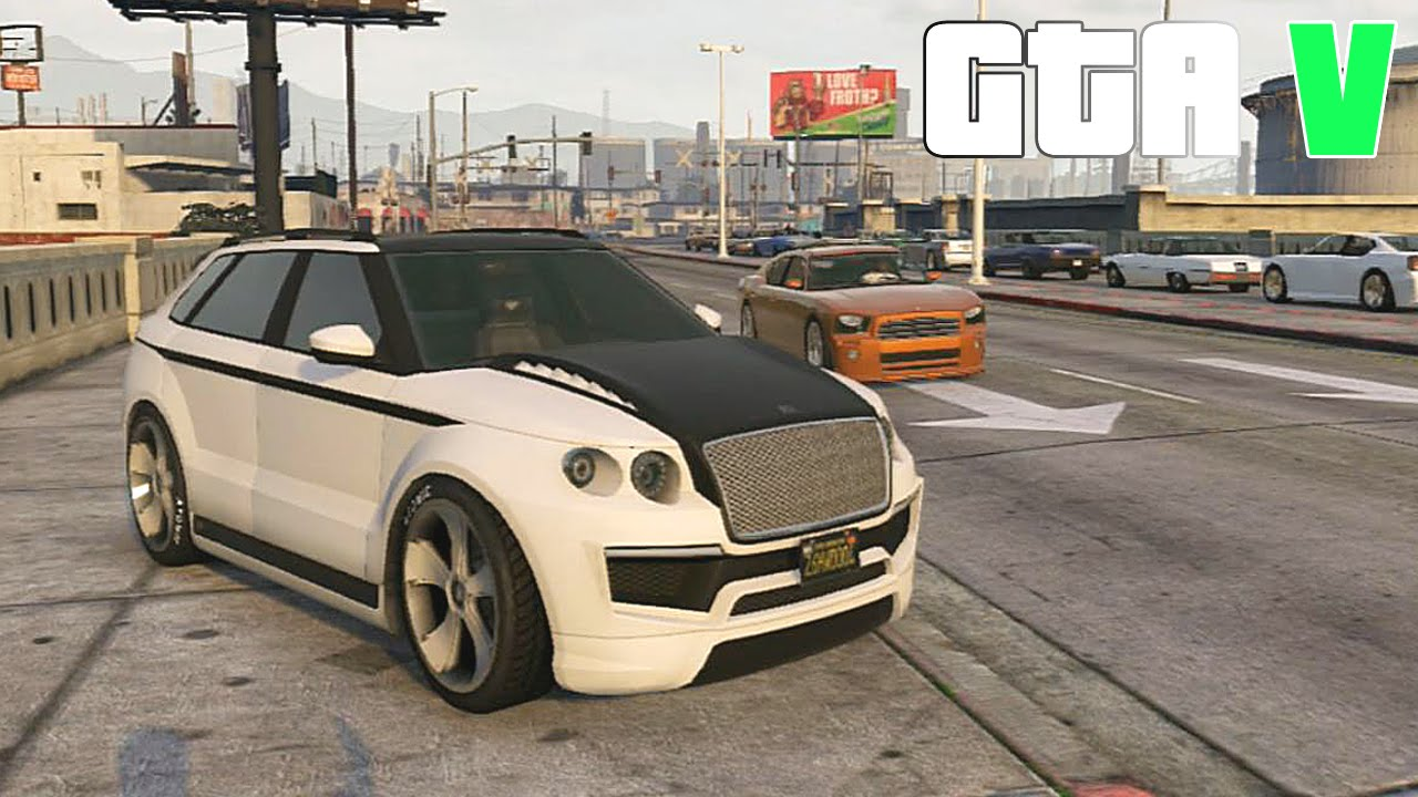 grand theft auto  customizing huntley  suv bentley exp    racing part  gtav