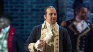 Hamilton but they sing We Are Number One instead of Yorktown