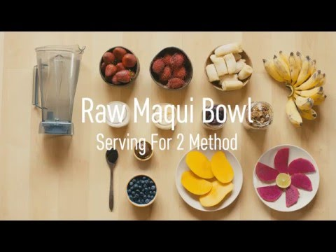 How To Make A Smoothie Bowl Raw Maqui Style Full Video Youtube