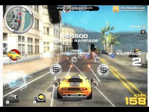 Игры для мальчиков - Гонки на машине которая стреляет Crash n Burn