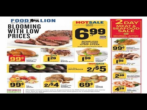 Food Lion Ad This Week Big Saving April 2017 Weekly Ads Youtube