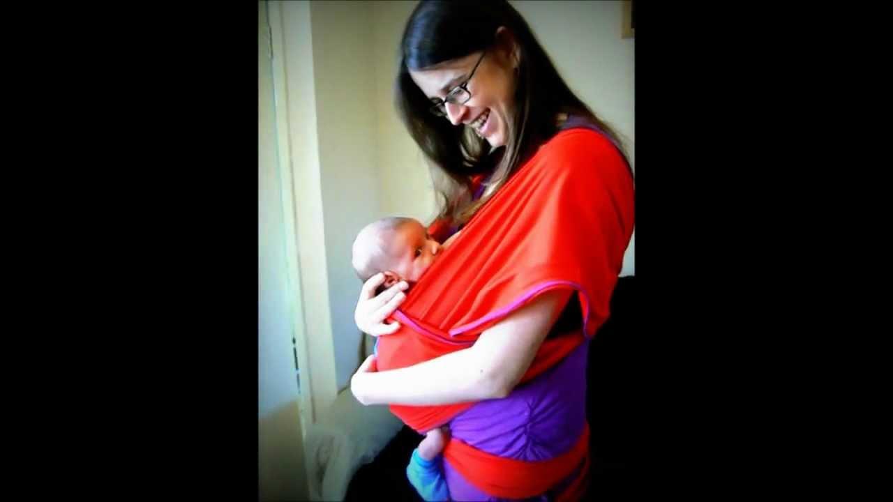 Nursing Breastfeeding In A Stretch Wrap Baby Carrier Youtube