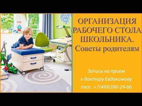 Организация рабочего стола школьника. Советы родителям