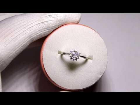 Обзор -Кольцо с бриллиантами 19 шт проба 585 размер 18 белое золото