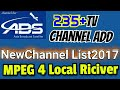235 New TV Chanal ABS Free Dish Auto Scan All Mode
