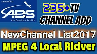 235 New TV Chanal ABS Free Dish - Auto Scan All Mode