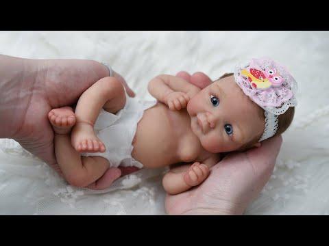 Miniature 10 Inch Silicone Reborn Baby Zoe