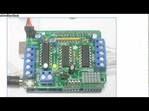 AdaFruit Motor shield - YouTube
