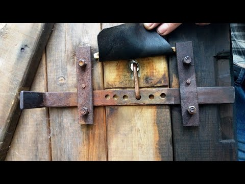 Как сделать потайной замок на дверь своими руками