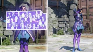 Overwatch Sombra Emotes, Victory Poses, Voice Lines, Sprays, Highlight Intros, & Weapons
