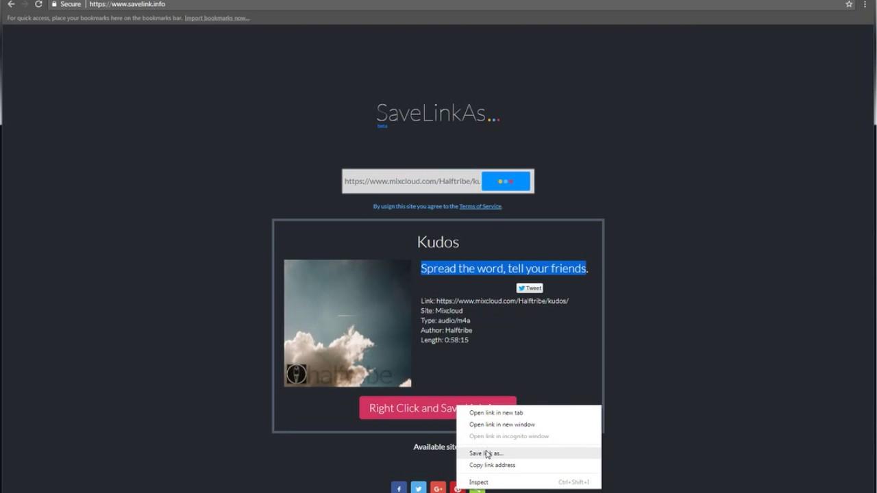 MixCloud Downloader | SaveLink info