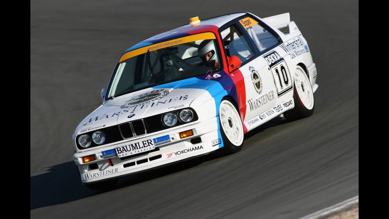 """This is a BMW M3 (type E30) DTM race car in BMW Motorsport/Warsteiner livery, from circa 1989.   In or before 2015, someone made this real BMW in a Pißwasser livery, obviously inspired by the BMW M/Warsteiner M3.  Until I compared the two just now, I never realized how closely the Sentinel Classic """"Rockstar Games"""" livery mimics that 2015 Pißwasser car.  EDIT: resized image thanks to u/Fezzert."""