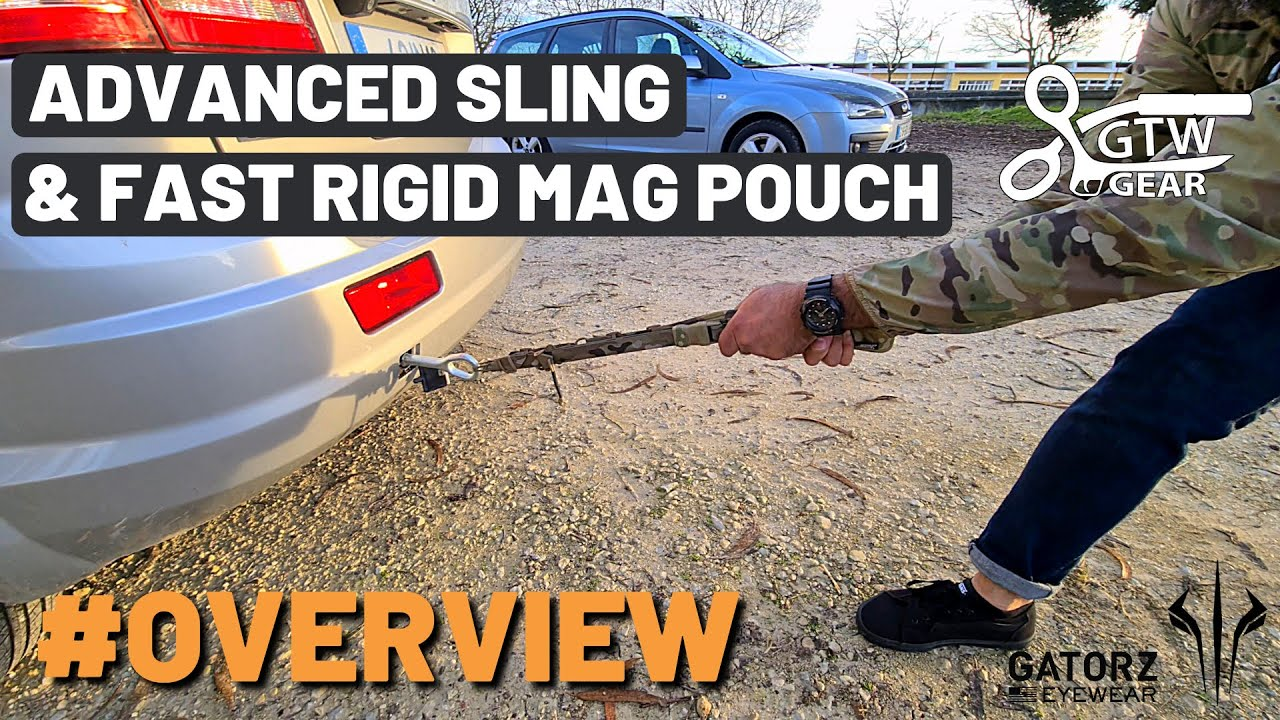 GTW Gear Advanced Sling & Fast Rigid Pistol Pouch Overview [ CAR PULL TEST ]