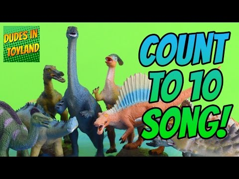 Dinosaur song - count 1 to 10 - dinosaurs toys videos for children