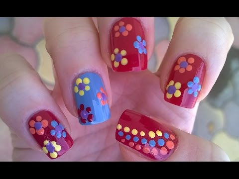 Dotting Tool Flower Nail Art