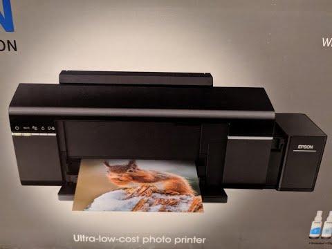 """Принтер Epson L805 струйный, цветной """"Фабрика печати"""" распаковка, заправка, первое включение"""
