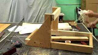 """the Wyvern"" A 3 Foot Torsion Catapult Built  In 23 Minutes"