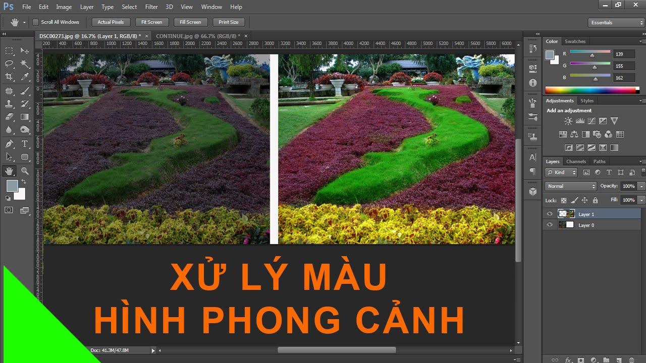 Cách xử lý màu hình phong cảnh bằng photoshop cs6.