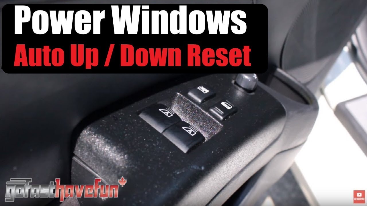 How To Reset Recalibrate Automatic Power Window Switches Nissan 1998 Maxima Wiring Diagram Electrical System Powerwindows Resetpowerwindows Resetautomaticwindows