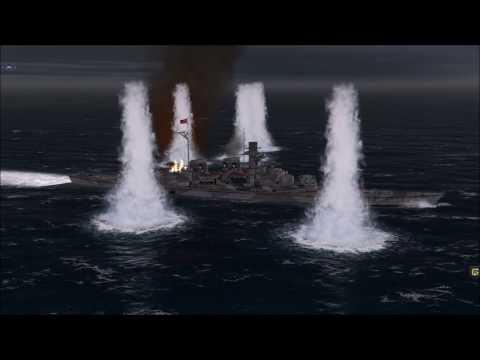 Atlantic Fleet: H-39 Battleship vs. 6 Battleships (Custom Battle)