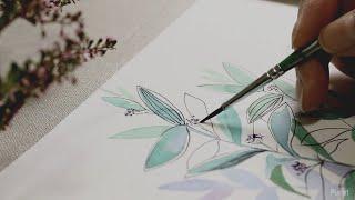 [수채화&펜그림] 그림액자 / 그림그리기  / …