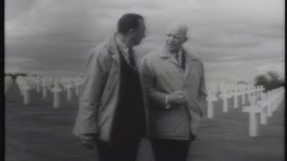 "CBS Reports (1964): ""D-Day Plus 20 Years - Eisenhower Returns to Normandy"" screenshot 4"