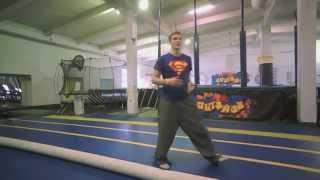 Акробатика. Обучение элементу акробатики: перевороту вперед