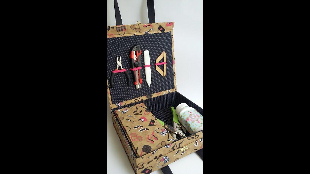 Aprenda fazer uma maleta para ferramentas de cartonagem for Donde venden vinilos para pared
