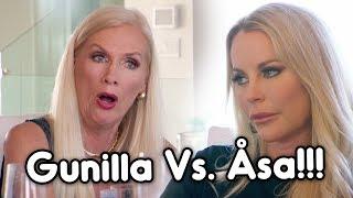 Det Hettar Till Mellan Gunilla Och Åsa Under Frulunchen! | Svenska Hollywoodfruar