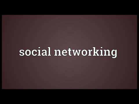 Social networking Meaning