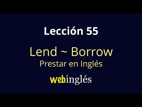55 LEND - BORROW - Cómo Decir Prestar en Inglés