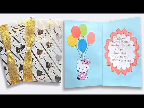 how-to-make-birthday-invitation-card-/-craft-ideas-for-birthday