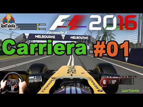 F1 2016 - PS4 Gameplay ITA - Logitech G29 - Carriera #01 - P